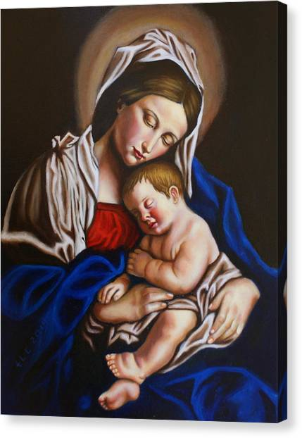 The Blessed Mother And The Infant Jesus Canvas Print