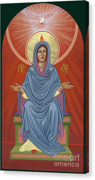 Canvas Print featuring the painting The Blessed Virgin Mary, Mother Of The Church by William Hart McNichols