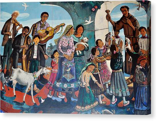 The Blessing Of Animals Olvera Street Canvas Print