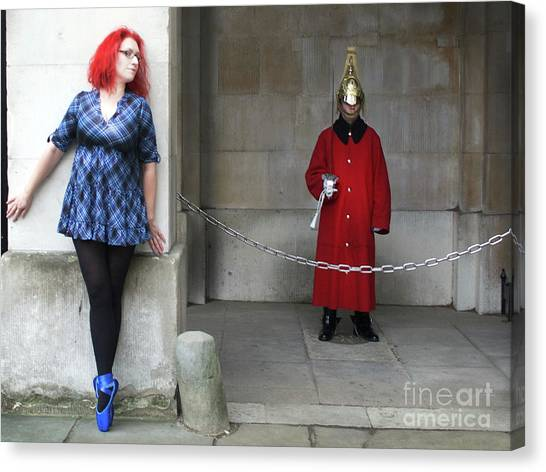 The Blue Ballet Shoes Hide From The Queen's Guard Canvas Print