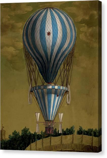 The Blue Balloon Canvas Print