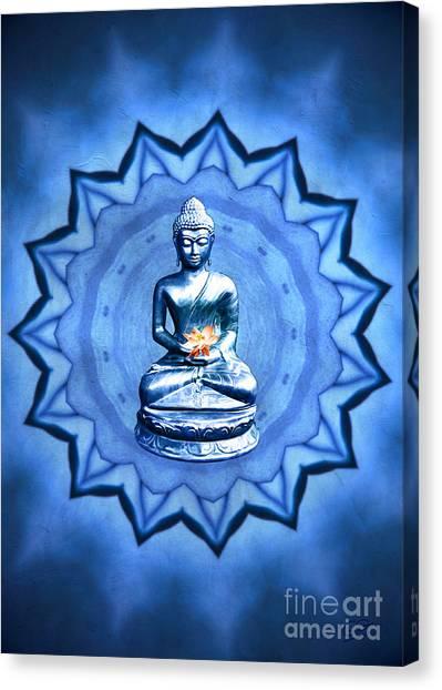 The Blue Buddha Meditation Canvas Print
