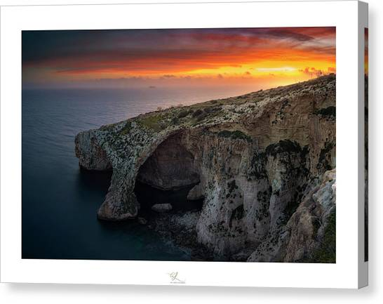 The Blue Grotto Canvas Print