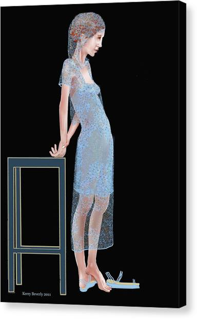 The Blue Outfit Canvas Print