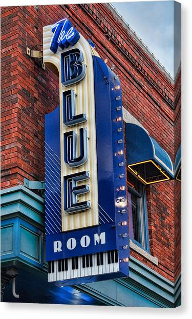 The Blue Room Sign Canvas Print