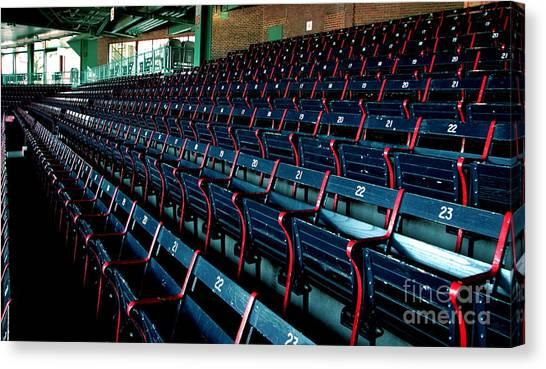 The Blue Seats Canvas Print