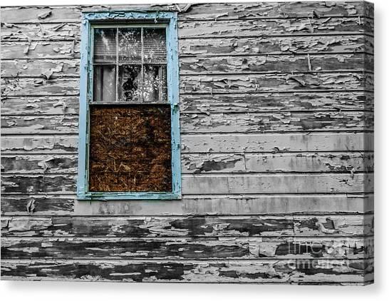 The Blue Window Canvas Print