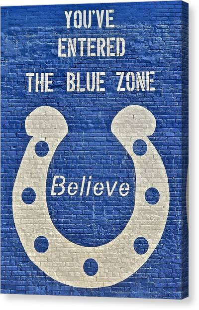 Indianapolis Colts Canvas Print - The Blue Zone by Frozen in Time Fine Art Photography