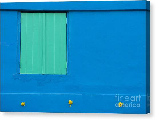 Architectural Detail Canvas Print - The Blues by Juli Scalzi