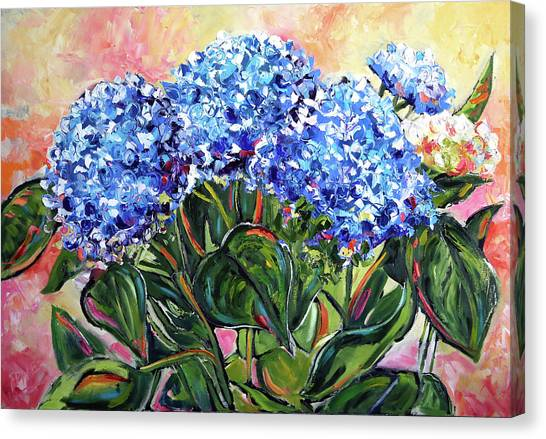 Canvas Print - The Blues by Laurie Pace