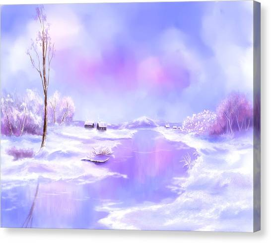 The Blues Of Winter Canvas Print