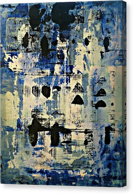 The Blues Abstract Canvas Print