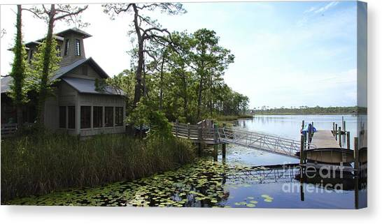Canvas Print - The Boathouse At Watercolor by Megan Cohen