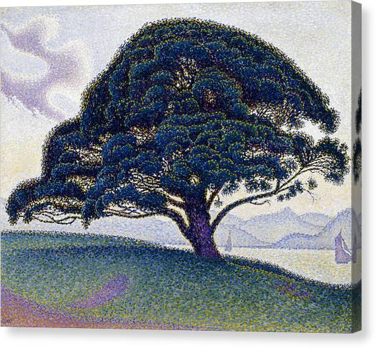 Pointillism Canvas Print - The Bonaventure Pine  by Paul Signac