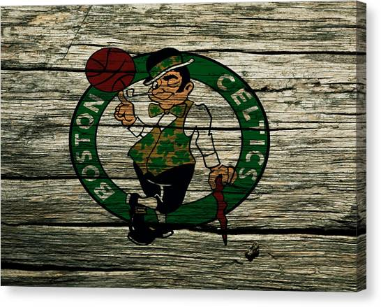 Larry Bird Canvas Print - The Boston Celtics 2w by Brian Reaves