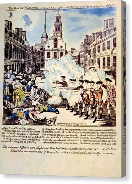 Jt History Canvas Print - The Boston Massacre, March 5, 1770 by Everett