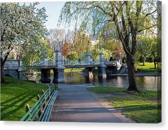 The Boston Public Garden In The Spring Boston Ma Canvas Print