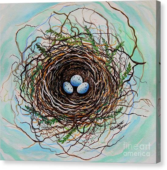 The Botanical Bird Nest Canvas Print