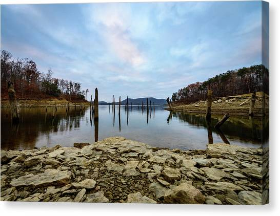 The Bottom Of The Lake Canvas Print