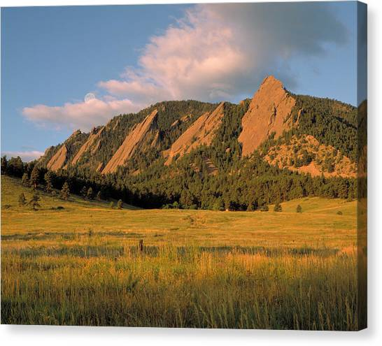 Affordable Canvas Print - The Boulder Flatirons by Jerry McElroy
