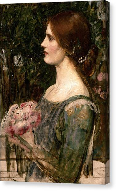 Wedding Bouquet Canvas Print - The Bouquet by John William Waterhouse
