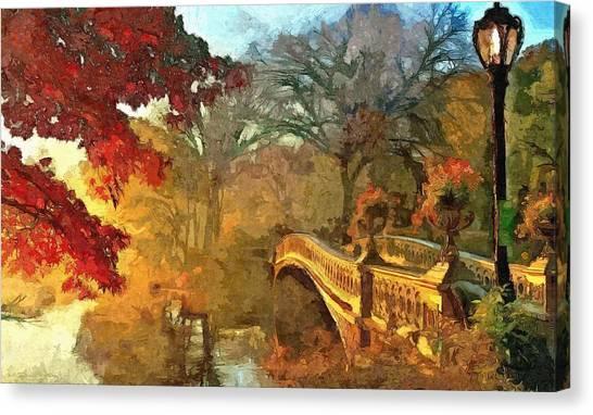 The Bow Bridge Nyc  Canvas Print