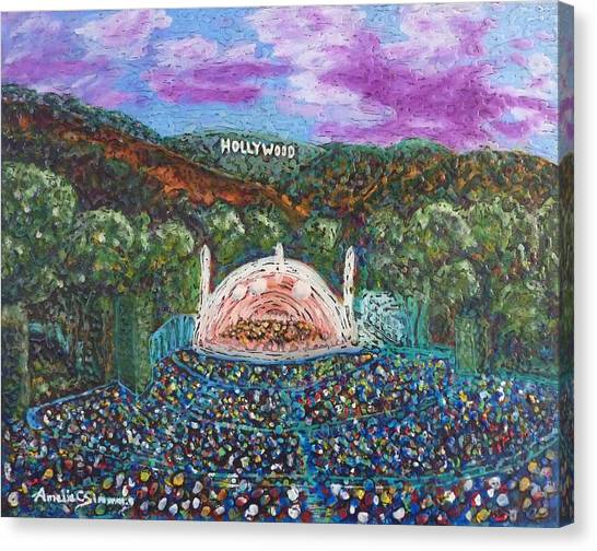 Canvas Print featuring the painting The Bowl by Amelie Simmons
