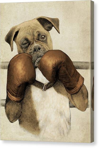 Boxing Canvas Print - The Boxer by Eric Fan