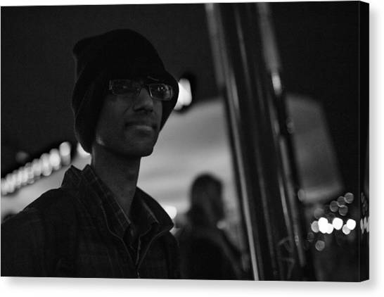 The Boy In The Dark Canvas Print by The Man With a Hat