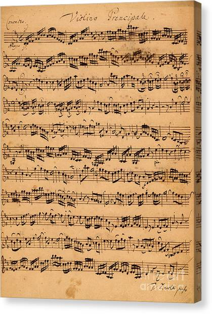 Baroque Art Canvas Print - The Brandenburger Concertos by Johann Sebastian Bach