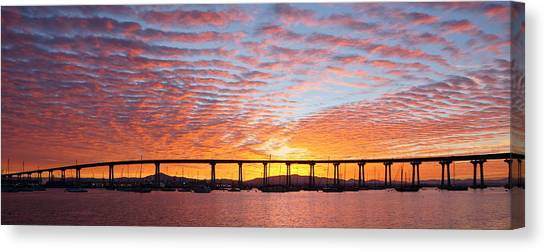 Canvas Print featuring the photograph The Break Of Dawn In Coronado by Jeremy McKay