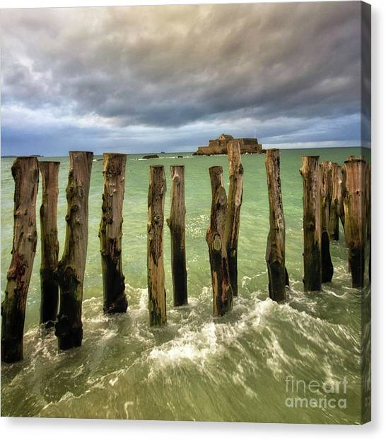 The Breakwater Canvas Print
