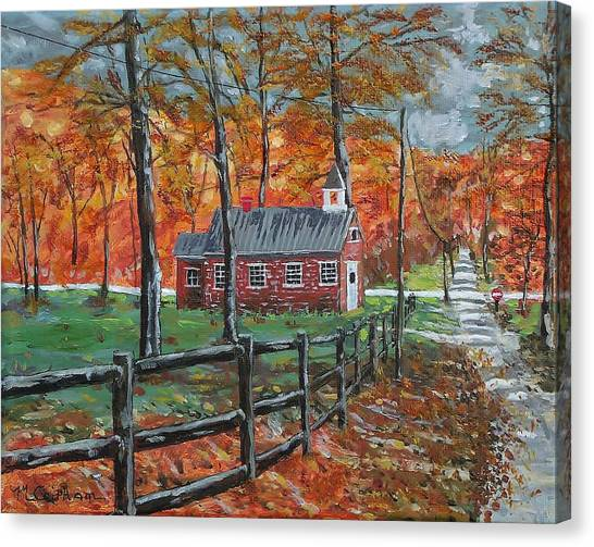 The Brick Country Schoolhouse Canvas Print