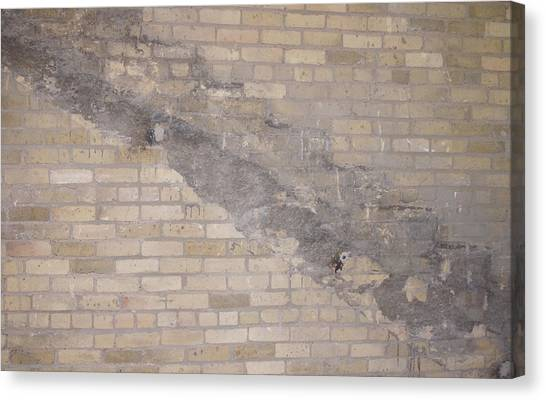 The Brick Wall-2 Canvas Print by Janis Beauchamp