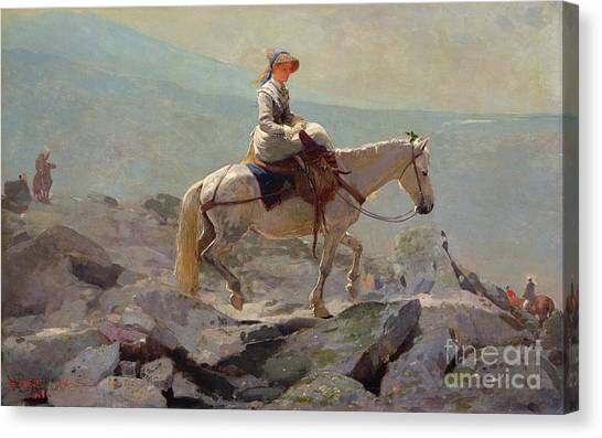 Hill Canvas Print - The Bridal Path by Winslow Homer