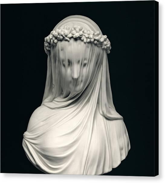 Statue Portrait Canvas Print - The Bride by English School