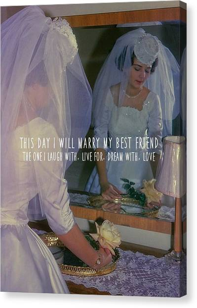 The Bride Quote Canvas Print by JAMART Photography