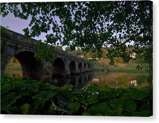 The Bridge At Inistogue Canvas Print by Joe Houghton