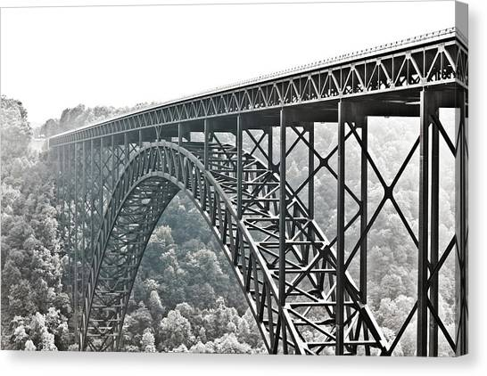 The Bridge B/w Canvas Print