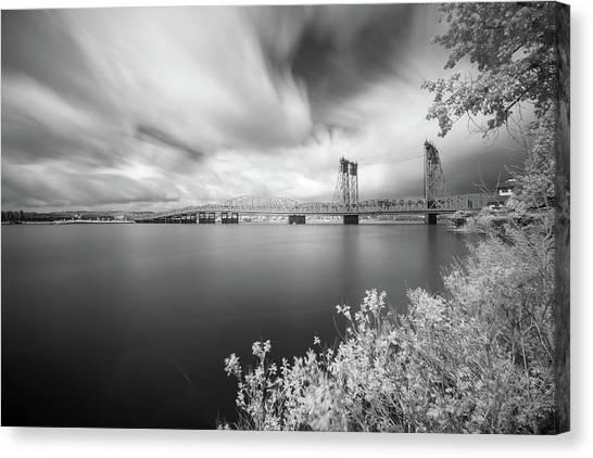 The Bridge Crosses Columbia River Canvas Print