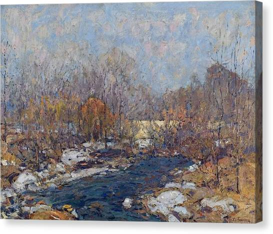 The Bridge  Garfield Park  By William J  Forsyth Canvas Print