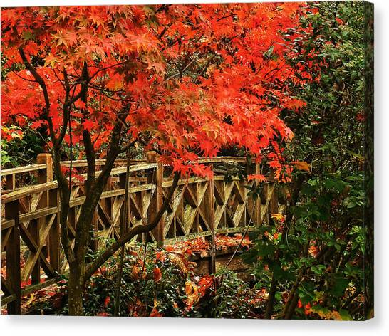 The Bridge In The Park Canvas Print