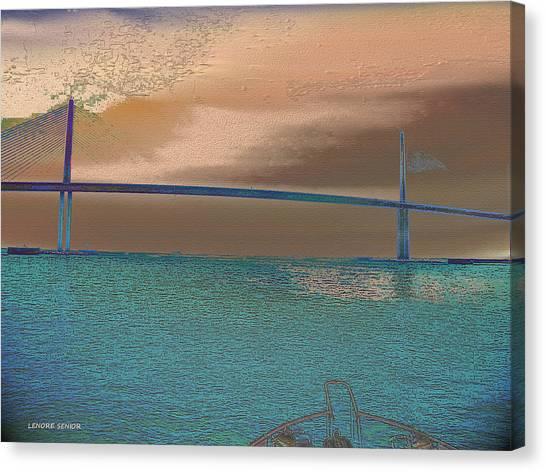Storm Canvas Print - The Bridge by Lenore Senior