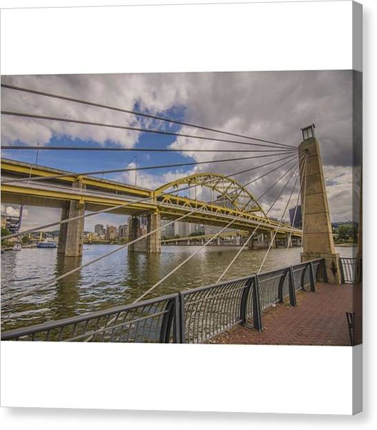 Skyscrapers Canvas Print - The Bridge. No Not Mc Shan Aka Queens by David Haskett II