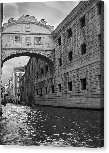 The Bridge Of Sighs, Venice, Italy Canvas Print