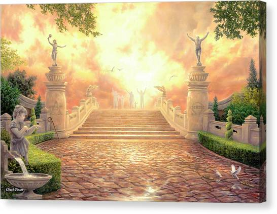 Heaven Canvas Print - The Bridge Of Triumph by Chuck Pinson