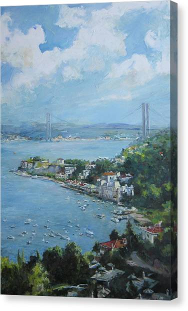 The Bridge Over Bosphorus Canvas Print