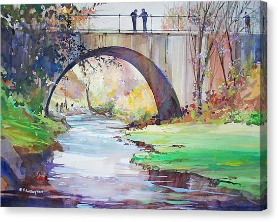 The Bridge Over Brewster Garden Canvas Print
