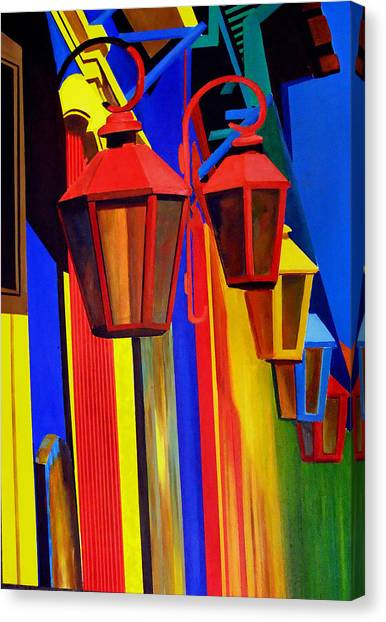 The Bright Lamps Of La Boca Canvas Print by JoeRay Kelley