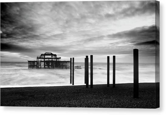 Brighton pier canvas print the brighton west pier by dutourdumonde photography